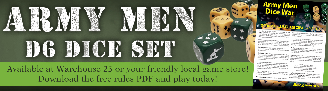 Banner link to Army Men D6 Dice Set