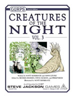 GURPS Creatures of the Night, Vol. 3 – Cover